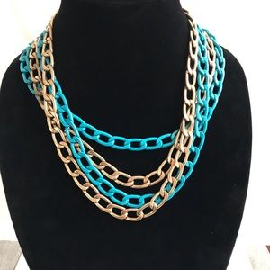 Jewelry - Cara New York gold and turquoise 4 chain necklace